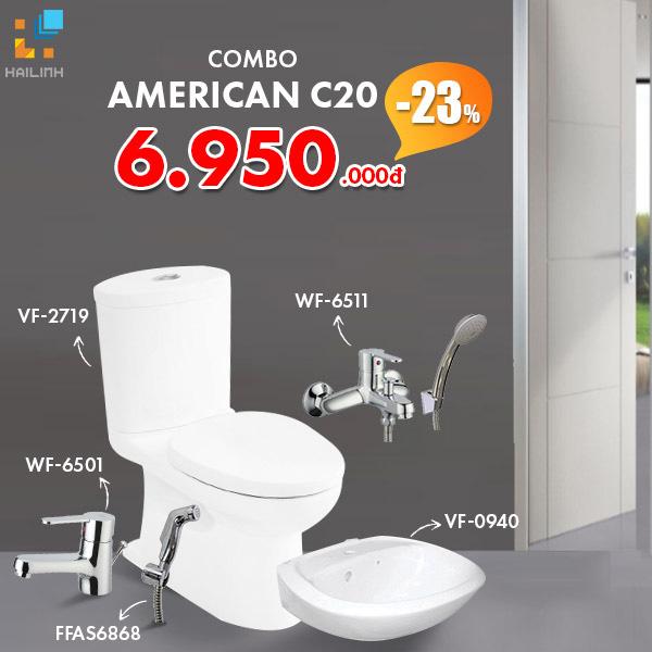 Combo Thiết bị vệ sinh American Standard C20