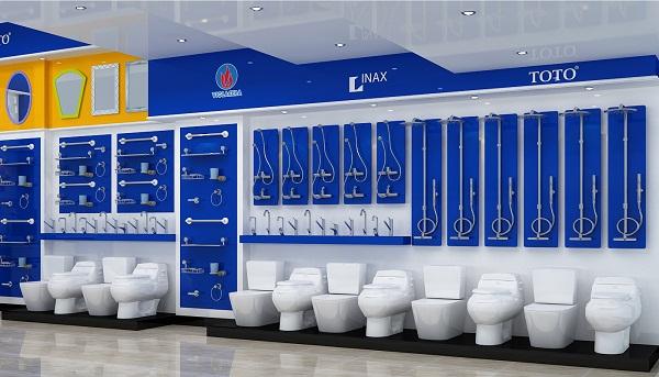 Showroom Hải Linh 275 Khuất Duy Tiến chuyên bày bán các thương hiệu thiết bị vệ sinh hàng đầu